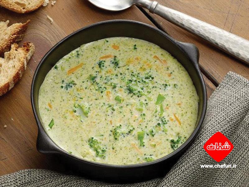 سوپ بروکلی چدار