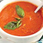 طرز تهیه سوپ گوجه و ریحان