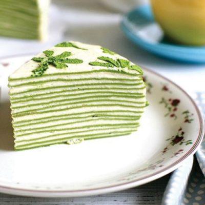 طرز تهیه کیک کرپ ماچا