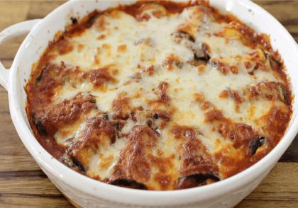 طرز تهیه رول بادمجان با پنیر