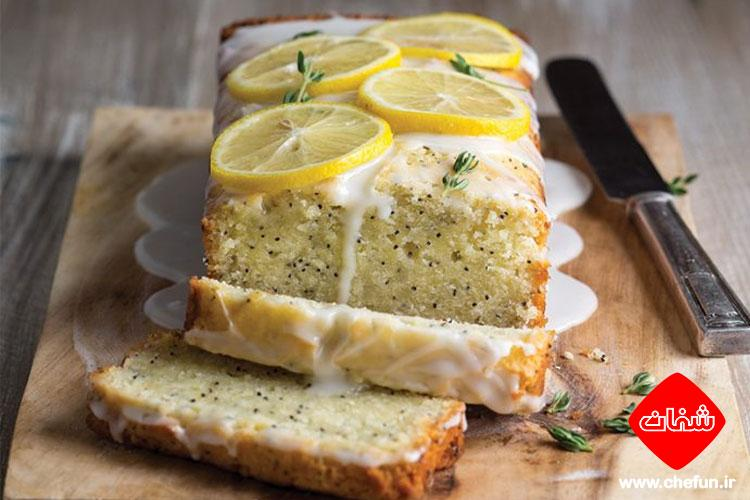 طرز تهیه کیک لیمو و خشخاش